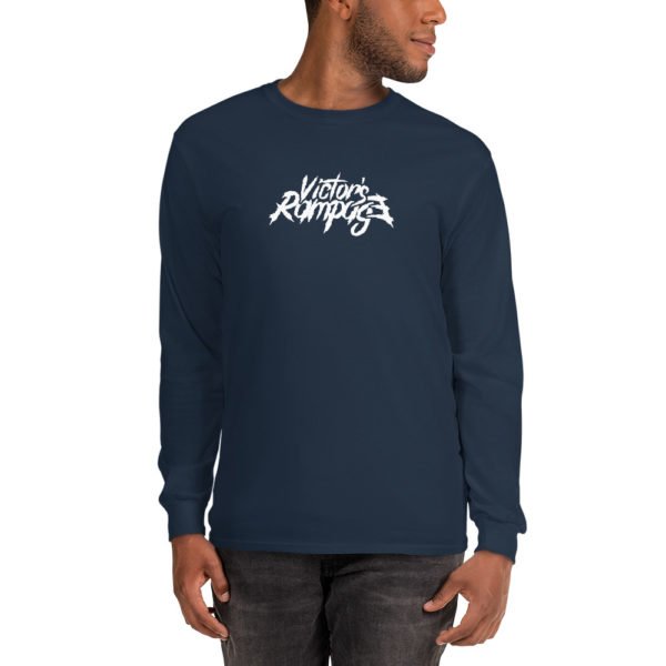 Victor's Rampage - Men's Long Sleeve T-Shirt - Navy Blue